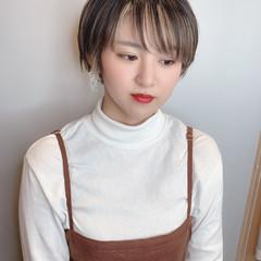 インナーカラー ショートボブ ベリーショート ショートヘア ヘアスタイルや髪型の写真・画像