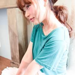 セクシー ヘアアレンジ セミロング 春 ヘアスタイルや髪型の写真・画像