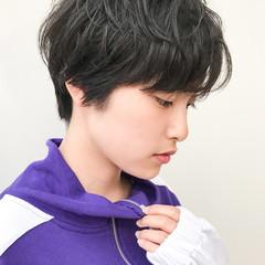 黒髪 コンサバ ショート 横顔美人 ヘアスタイルや髪型の写真・画像