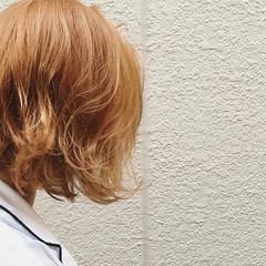 外国人風 ダブルカラー 外ハネ ガーリー ヘアスタイルや髪型の写真・画像