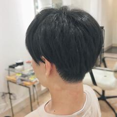 ナチュラル マッシュ ショート 刈り上げ ヘアスタイルや髪型の写真・画像