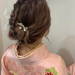 ガーリー ロング ヘアアレンジ お呼ばれヘア ヘアスタイルや髪型の写真・画像