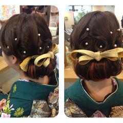 着物 成人式 ガーリー ロング ヘアスタイルや髪型の写真・画像