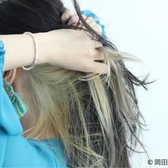 外国人風 グラデーションカラー ストリート ツートン ヘアスタイルや髪型の写真・画像