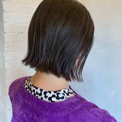黒髪 外ハネ ボブ 外ハネボブ ヘアスタイルや髪型の写真・画像