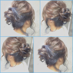 ハーフアップ セミロング ヘアアレンジ 大人かわいい ヘアスタイルや髪型の写真・画像