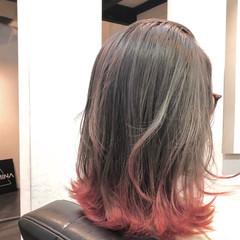 ナチュラル ハイトーンカラー グラデーションカラー ハイライト ヘアスタイルや髪型の写真・画像