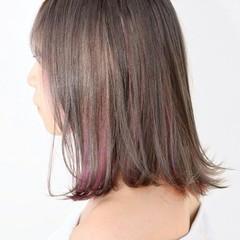 インナーカラー ストリート ボブ 色気 ヘアスタイルや髪型の写真・画像