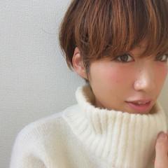 冬 こなれ感 小顔 似合わせ ヘアスタイルや髪型の写真・画像