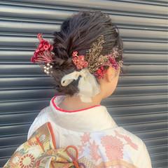 ヘアアレンジ 成人式ヘア 成人式 成人式カラー ヘアスタイルや髪型の写真・画像