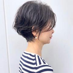 ショートボブ ショートカット ハンサムショート ショートヘア ヘアスタイルや髪型の写真・画像
