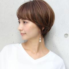 ショートヘア 縮毛矯正 ショート ストレート ヘアスタイルや髪型の写真・画像