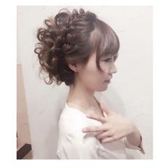 ゆるふわ アッシュ ヘアアレンジ フェミニン ヘアスタイルや髪型の写真・画像