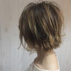 ボブ 外ハネ ガーリー 大人かわいい ヘアスタイルや髪型の写真・画像