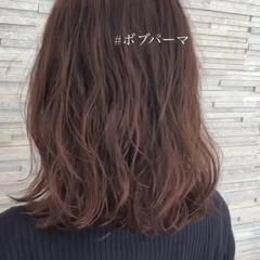 ナチュラル ミディアム パーマ デジタルパーマ ヘアスタイルや髪型の写真・画像