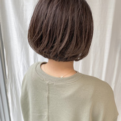 外ハネボブ ナチュラル ショートボブ まとまるボブ ヘアスタイルや髪型の写真・画像
