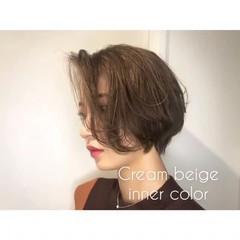 ハイライト ショート ナチュラル 外国人風カラー ヘアスタイルや髪型の写真・画像