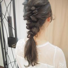 ナチュラル 結婚式 くるりんぱ 簡単ヘアアレンジ ヘアスタイルや髪型の写真・画像