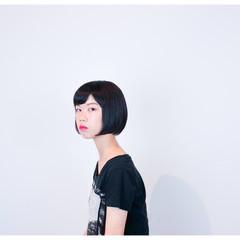 ストリート ワンレングス ショートボブ ボブ ヘアスタイルや髪型の写真・画像