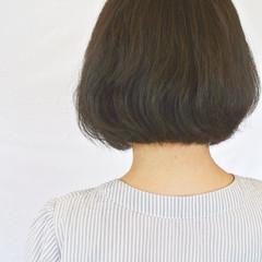 耳かけ ナチュラル ワンレングス ボブ ヘアスタイルや髪型の写真・画像