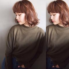 簡単 ゆるふわ グラデーションカラー 大人かわいい ヘアスタイルや髪型の写真・画像