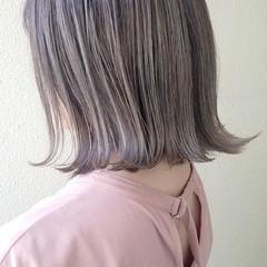 イルミナカラー ミディアム ストリート ミニボブ ヘアスタイルや髪型の写真・画像