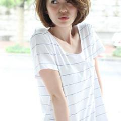 大人かわいい ショート 外国人風カラー ストリート ヘアスタイルや髪型の写真・画像