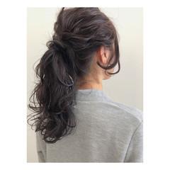 ナチュラル ロング 簡単ヘアアレンジ ショート ヘアスタイルや髪型の写真・画像