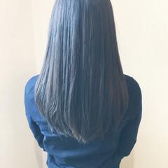 イルミナカラー セミロング 冬 アッシュ ヘアスタイルや髪型の写真・画像