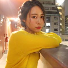 小顔 簡単ヘアアレンジ ヘアアレンジ ショート ヘアスタイルや髪型の写真・画像
