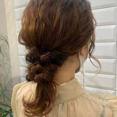 ヘアセット 結婚式ヘアアレンジ ミディアム ヘアアレンジ ヘアスタイルや髪型の写真・画像