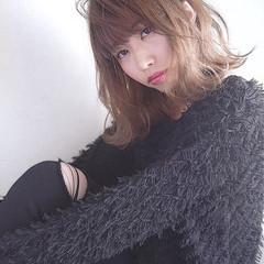 外国人風カラー 外ハネ ウェットヘア 秋 ヘアスタイルや髪型の写真・画像