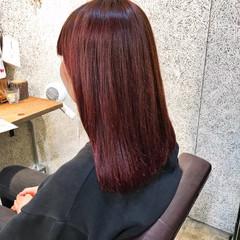 上品 ヘアアレンジ エレガント レッド ヘアスタイルや髪型の写真・画像