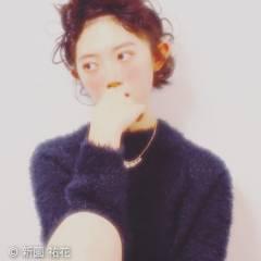 黒髪 ショート 丸顔 ヘアアレンジ ヘアスタイルや髪型の写真・画像