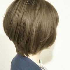 大人かわいい ボブ 暗髪 ショート ヘアスタイルや髪型の写真・画像