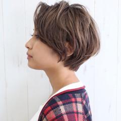 ショート サイドアップ 大人女子 小顔 ヘアスタイルや髪型の写真・画像