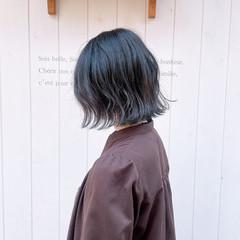 外ハネ ショートボブ ボブ ナチュラル ヘアスタイルや髪型の写真・画像