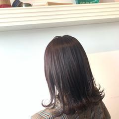 ラベンダーピンク ナチュラル ラベンダーアッシュ グレージュ ヘアスタイルや髪型の写真・画像
