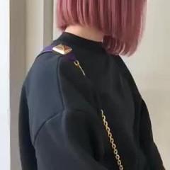 ピンクパープル ラベンダーピンク ベリーピンク ピンク ヘアスタイルや髪型の写真・画像