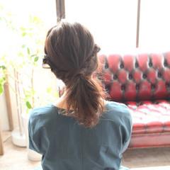 ヘアアレンジ ショート 簡単ヘアアレンジ ミディアム ヘアスタイルや髪型の写真・画像