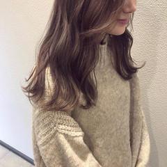 ラベンダーピンク ピンクラベンダー ロング 春 ヘアスタイルや髪型の写真・画像