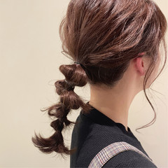ラベンダーアッシュ セミロング ラーメンマンヘア ロブ ヘアスタイルや髪型の写真・画像