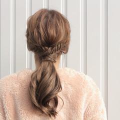 ナチュラル ポニーテール 外国人風 ヘアアレンジ ヘアスタイルや髪型の写真・画像