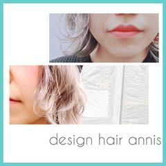 ダブルカラー 外国人風 ボブ ストリート ヘアスタイルや髪型の写真・画像
