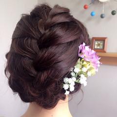 結婚式 パーティ ロング ヘアメイク ヘアスタイルや髪型の写真・画像