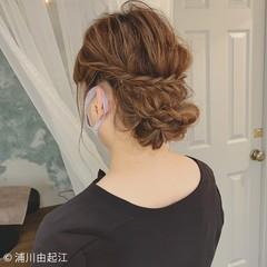 セミロング デート モテ髪 ヘアアレンジ ヘアスタイルや髪型の写真・画像