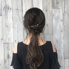 ロング ヘアアレンジ アウトドア 色気 ヘアスタイルや髪型の写真・画像