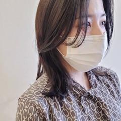 エレガント 韓国ヘア ミディアムヘアー くびれミディ ヘアスタイルや髪型の写真・画像