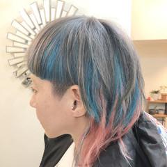 ウルフカット ボブ ストリート グラデーションカラー ヘアスタイルや髪型の写真・画像