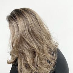 ナチュラル セミロング 白髪染め 外国人風カラー ヘアスタイルや髪型の写真・画像